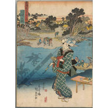 Utagawa Kunisada: Kawasaki (Station 2, Print 3) - Austrian Museum of Applied Arts