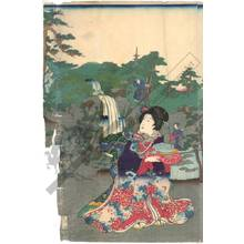 Yamada Kunijiro: The rustic Genji in the waterfall garden - Austrian Museum of Applied Arts