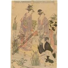 Hosoda Eisho: Beauties on the Yatsuhashi (title not original) - Austrian Museum of Applied Arts