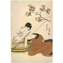 Utagawa Toyokuni I: Washing the neck (title not original) - Austrian Museum of Applied Arts