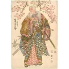 Utagawa Toyokuni I: Bando Mitsugoro as Hige no Ikyu - Austrian Museum of Applied Arts