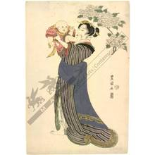 Utagawa Toyokuni I: Woman and child (title not original) - Austrian Museum of Applied Arts