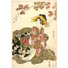 Utagawa Toyokuni I: Courtesan Takao from the Miura house - Austrian Museum of Applied Arts
