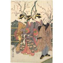 Utagawa Toyokuni I: Second month: The plum-blossom garden - Austrian Museum of Applied Arts