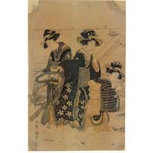 Kikugawa Eizan: Gathering shells (title not original) - Austrian Museum of Applied Arts