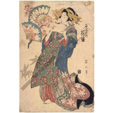 Kikugawa Eizan: Courtesan Hanamurasaki from the Tama house - Austrian Museum of Applied Arts