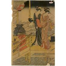 Utagawa Toyohiro: Sixth month, Set of three prints - Austrian Museum of Applied Arts