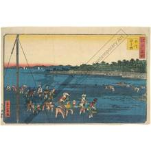 Utagawa Hiroshige II: Gathering shells at Shinagawa - Austrian Museum of Applied Arts