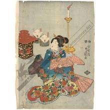 歌川国貞: Woman with a Kamishimo dress (title not original) - Austrian Museum of Applied Arts