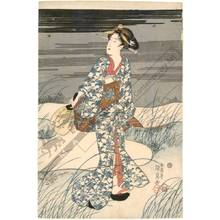 Utagawa Kunisada: Hunting for fireflies (title not original) - Austrian Museum of Applied Arts