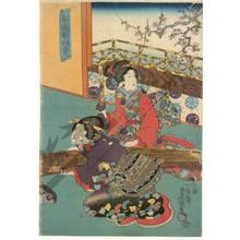 歌川国貞: The fragrance of the spring and the sound of the koto - Austrian Museum of Applied Arts