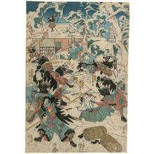 Utagawa Kuniyoshi: Eleventh act from the Chushingura (title not original) - Austrian Museum of Applied Arts