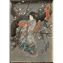 Utagawa Kunisada: Plum blossom spring - Austrian Museum of Applied Arts