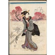 Utagawa Yoshitora: Viewing cherry blossoms (title not original) - Austrian Museum of Applied Arts