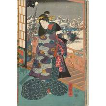 Utagawa Kuniteru: Snow - Austrian Museum of Applied Arts