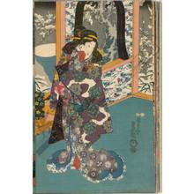 Utagawa Kunisada: Plum blossoms covered with snow (title not original) - Austrian Museum of Applied Arts