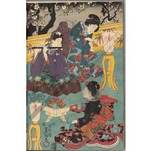 Utagawa Kunisada: An evening with music (title not original) - Austrian Museum of Applied Arts