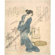 柳川重信: Woman coming from the bath (title not original) - Austrian Museum of Applied Arts