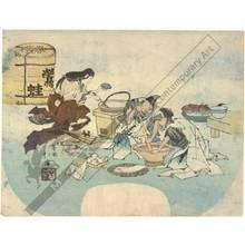 Totoya Hokkei: Fan print (title not original) - Austrian Museum of Applied Arts