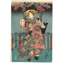 Utagawa Yoshikazu: Competition of courtesans - Austrian Museum of Applied Arts