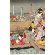 Kitagawa Utamaro: True pictures of the opening of the season at Ryogoku bridge in Edo during der Bunka period - Austrian Museum of Applied Arts