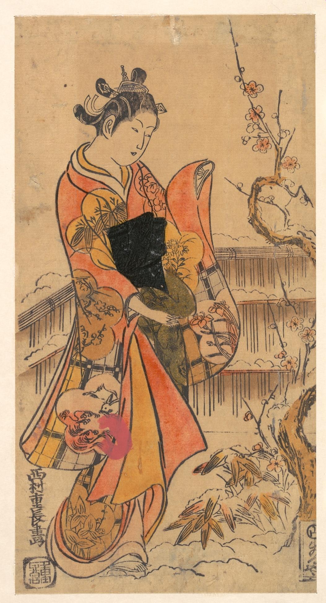 Nishimura Shigenaga: A Young Lady in a Garden - Metropolitan Museum ...