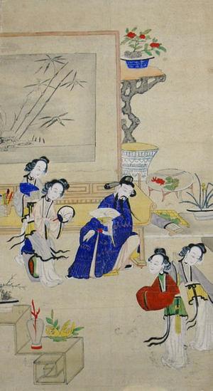 無款: Zhen Linru Meets His Wives - メトロポリタン美術館