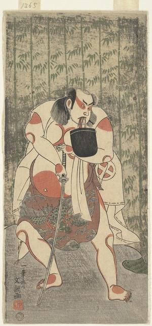 一筆斉文調: The Actor Otani Hiroji III, Armed with a Sword - メトロポリタン美術館