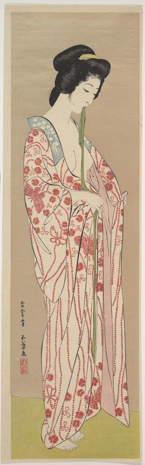 橋口五葉: Woman Dressing - メトロポリタン美術館