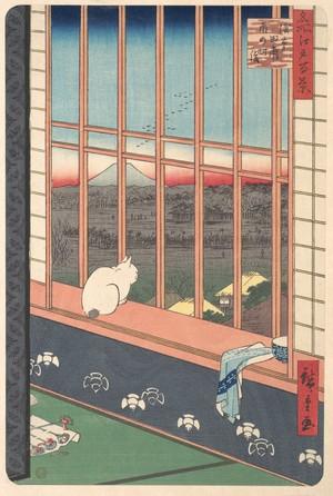 歌川広重: Revelers Returned from the Tori no Machi Festival at Asakusa, from the series One Hundred Famous Views of Edo - メトロポリタン美術館