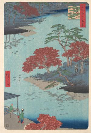 歌川広重: Inside the Akiba Shrine at Ukeji - メトロポリタン美術館