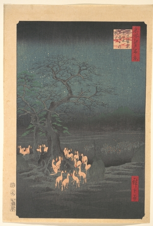 Utagawa Hiroshige: Foxes Meeting at Oji - Metropolitan Museum of Art