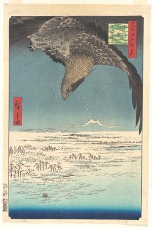 Utagawa Hiroshige: Jûmantsubo Plain at Susaki, Fukagawa, from the series