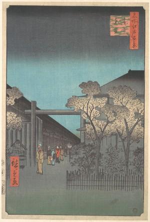 Utagawa Hiroshige: The Entrance to the Yoshiwara at Dawn - Metropolitan Museum of Art