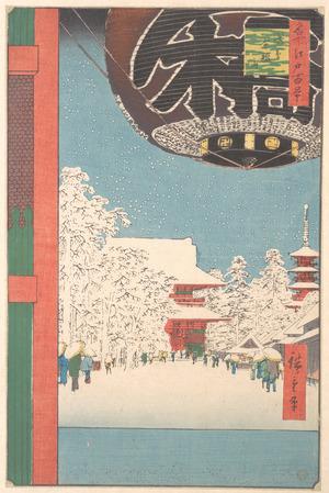 歌川広重: The Kinryusan Temple at Asakusa - メトロポリタン美術館