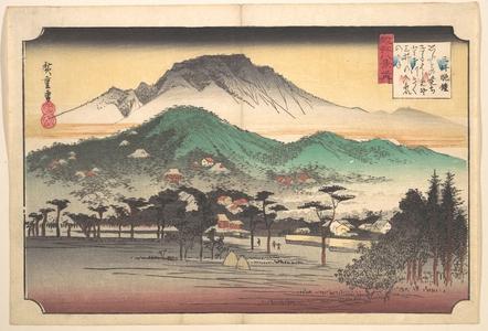 Utagawa Hiroshige: Vesper Bells at Mii Temple - Metropolitan Museum of Art