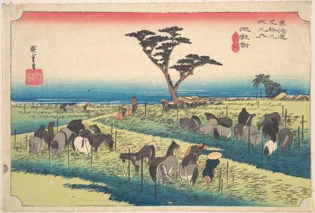 歌川広重: Chiryu, Shuka Uma Ichi - メトロポリタン美術館