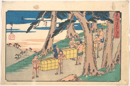 歌川広重: Kameyama - メトロポリタン美術館