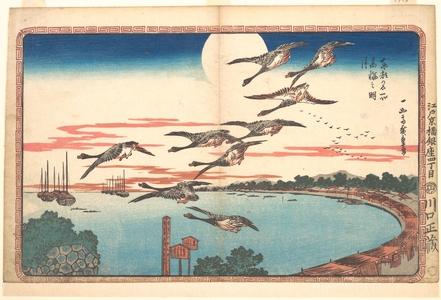Utagawa Hiroshige: Full Moon at Takanawa - Metropolitan Museum of Art