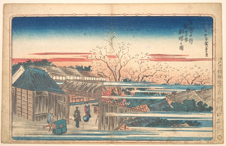 歌川広重: Morning Cherries at Yoshiwara - メトロポリタン美術館