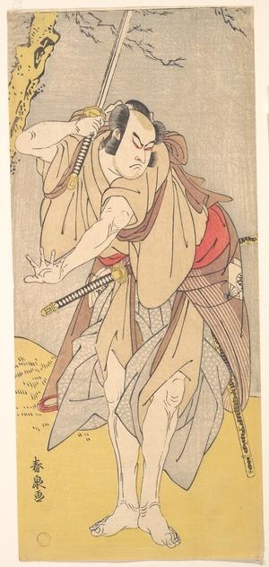 Katsukawa Shunsen: The Actor Onoe Matsusuke as a Samurai with a Drawn Sword - Metropolitan Museum of Art