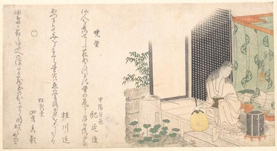 葛飾北斎: Cage of Fireflies at Dawn in Summer - メトロポリタン美術館