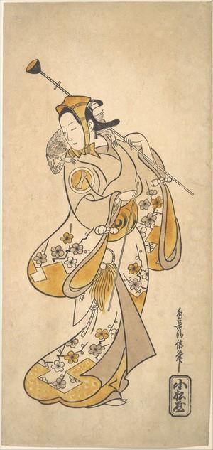 Torii Kiyonobu I: Ichikawa Monnosuke as a Sarumawashi or Monkey Showman - Metropolitan Museum of Art