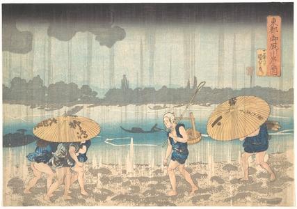 歌川国芳: Onmayagashi in Edo - メトロポリタン美術館