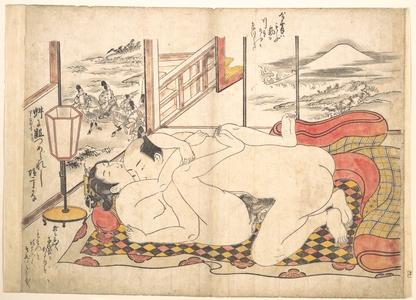 Okumura Masanobu: Bedroom Scene - Metropolitan Museum of Art