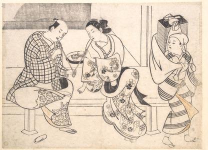Okumura Masanobu: Amorous Couple - Metropolitan Museum of Art