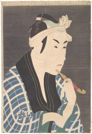 Toshusai Sharaku: Matsumoto Koshiro IV as the Fish Peddler Gorobei - Metropolitan Museum of Art