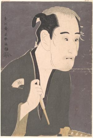 Toshusai Sharaku: Onoe Matsusuke I as Matsushita Mikinojô in the Play