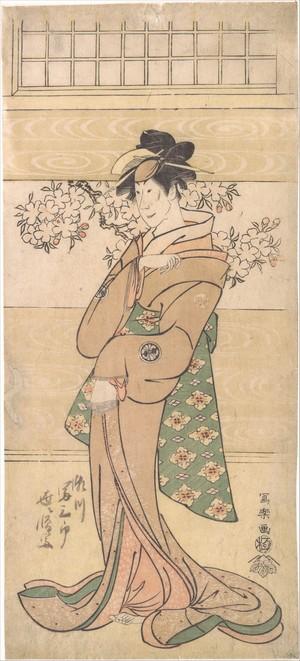Toshusai Sharaku: Actor Segawa Tomisaburo II as the Geisha Asaka - Metropolitan Museum of Art