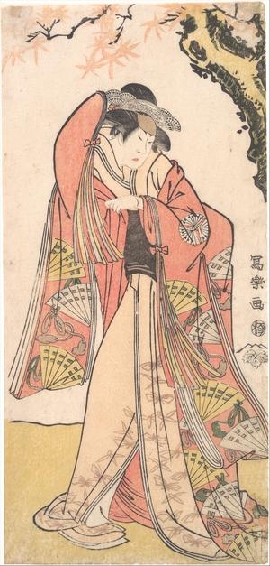 東洲斎写楽: Actor Sakakiyama Sangoro II as Michinaga's Daughter Princess Otae - メトロポリタン美術館
